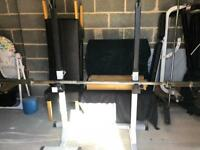 Squat rack/Bench and Olympic bar