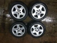 """Audi Vw alloys wheels 16"""" inch great condition and good tyres"""