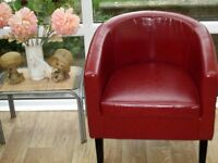BRAND NEW TUB CHAIR RED
