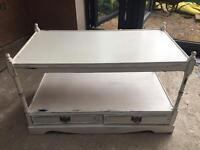 Shabby chic TV media with 2 drawers