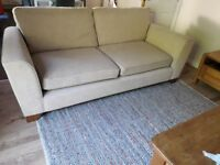Natural beige M&S large 3 seater sofa