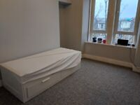 Ikea Brimnes Day Bed / Sofa Bed with 2 Malfors Mattresses