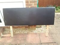 Kingsize brown pvc headboard, used condition has a few marks but still good to use,