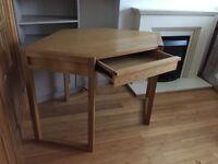 High quality corner desk (solid oak and veneers)