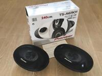 "Pioneer 6x9"" car speakers (stereo system)"