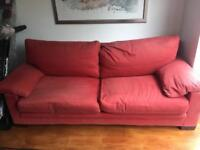 Italian B&B Flexform Pair 4 seater sofas red