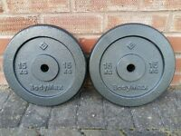 CAST IRON 15KG X 2 WEIGHT PLATES