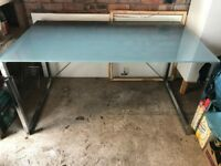 Frosted glass desk/table