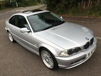 BMW E46 318Ci Coupe **Manual** YEARS MOT**JUST HAD SERVICE**SUNROOF**BBS LMs VERY CLEAN**