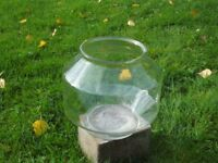 Classic gold fish bowl suitable for fish, terrarium, displaying fairy lights