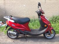 kymco super fever 2 swap for 125