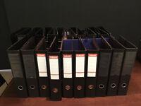 Free used lever arch folders/ring binders x50. Nr London Bridge - take as many as you like