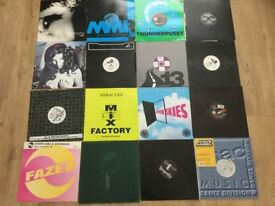 16 x classic 90's techno vinyl records