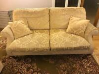 John Lewis sofa and single seater