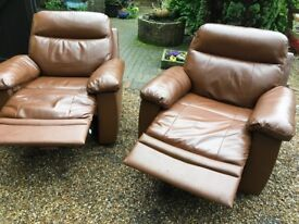 PAIR OF AS NEW RECLINER CHAIRS