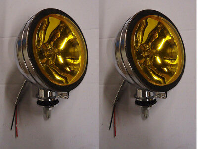 2Pcs  Six Inch  6  Amber Lens Off Road Light Truck Driving Fog  Light