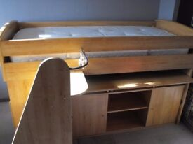 cabin bed single solid bed