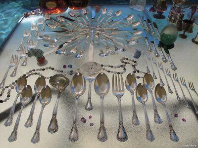 69p LARGE GORHAM CHANTILLY DINNER STERLING SILVER FLATWARE OLD SET SERVERS HEAVY