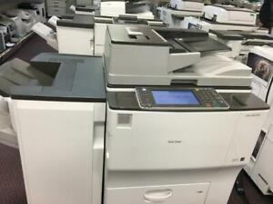REPOSSESSED Ricoh MP 6002 Black and White High-End FAST 11x17 12x18 Printer Color Scanner Photocopier Finisher 60PPM