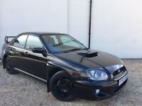 2003 BLACK SUBARU IMPREZA WRX 2.0 TURBO AWD FSH, MOT DEC, HPI CLEAR, ANGEL EYES, FINE DRIVE £3250