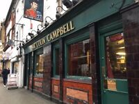 Bar Staff Needed, North London