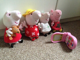 Peppa Pig soft toys with phone