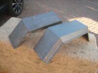 Erde 102/Daxara 107 trailer mudguards (PAIR) for 8 inch wheels