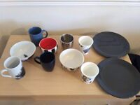 Set of mugs, cups, plates and bowls TIGER