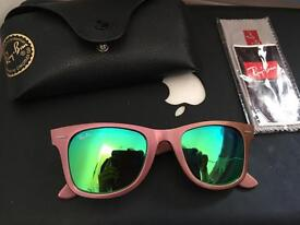 Genuine ray ban sunglass mirror lens cosmo collection