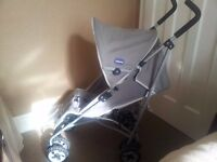 Chicco stroller £30 and Parasol £5.