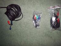 4 RCA CABLES AND 1 HDMI CABLE AND HDMI Splitter BRAND NEW AND NOT BEEN USED