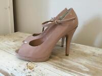 Size 6 peep toe high heels