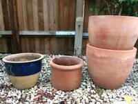 Pots of various sizes