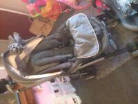 Silver cross pram and car seat