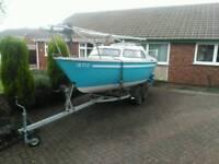 Sailfish 18 sailing boat with galvanized trailer
