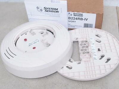 System Sensor B224rb-iv Fire Alarm Smoke Detector Relay Base Ivory