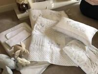 White Company Nursery Bedding and Changing mat
