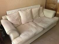 10 person extra large cream sofa set with scatter back cushions amazingly comfy!!