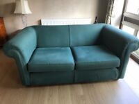 Multiyork Chesterfield three seater settee x 2 and armchair