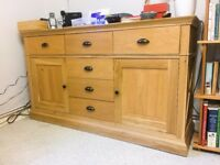 Beautiful light oak kitchen dresser