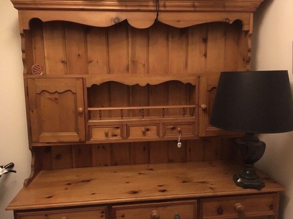 Solid Antique Pine Welsh Dresser