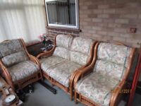 Conservatory Furniture - 2 seater sofa and 2 chairs in good condition