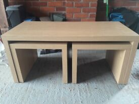 Triple Coffee Table For Sale