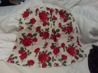 Red and White short flowery skirt