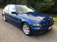 2002 BMW 316 TI 1.8 COMPACT SE 3 SERIES 3 DOOR HATCH BACK CAR