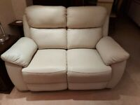 2 seater leather sofa/recliner