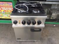LPG GAS COOKER UNDER ELECTRIC OVEN CATERING COMMERCIAL FAST FOOD RESTAURANT KITCHEN BAR