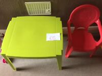 Childs Plastic Table & Chair