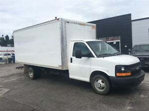 2014 Chevrolet Express 3500 16ft cube with ramp. fin or lease fr