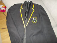 park view blazer with green badge 36in boys